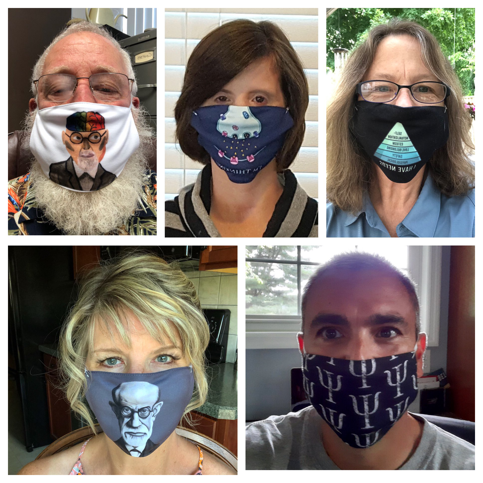 psychology staff wearing masks